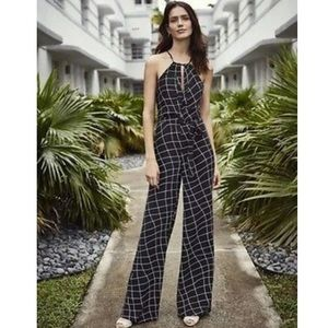 NWT Sanctuary Black & White Windowpane Jumpsuit